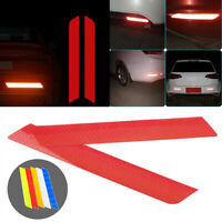 2pcs Red Reflective Night Safety Warning Car Rim Rear Wheel Decal Tape Sticker