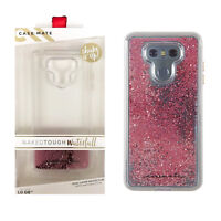 Case Mate Naked Tough Waterfall Impact Protection Case For LG G6 Clear Rose Gold