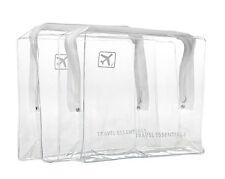 Viaje de Navidad Bolsas de Plástico Transparente-bolsas de aseo aerolínea aeropuerto claro