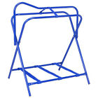 Tough-1 Folding Floor Saddle Rack w/Web Bottom Blue Pack Of 2 U--4-0