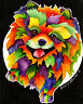 POMERANIAN 8X10  DOG Colorful Print from Artist Sherry Shipley