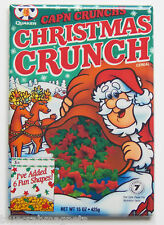 Christmas Cap'n Crunch FRIDGE MAGNET (2 x 3 inches) cereal box holiday winter