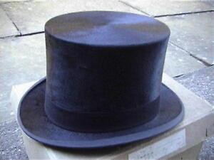 Superb Christys Black Silk Top Hat Sz 7¼ with Original Card box