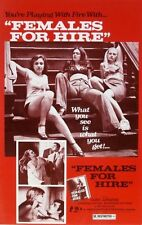 "Vintage ca. 1975 ""Females For Hire"" Film Art Sexploitation Red Light District !"