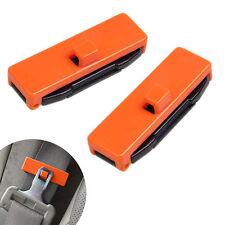 1 Pair Car Auto Seat Belt Adjuster Locking Stopper Safty Aid.Orange. UK Supplier