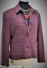 Jones New York Signature blazer fuzzy mohair wool shaggy coat Jacket 16 VTG NEW