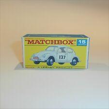 Matchbox Lesney 15 d Volkswagen VW 1500 Saloon empty Repro F style Box