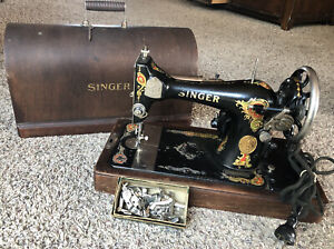 Antique Sewing Machine Tote Shoulder Bag Purse with Coordinating Zipper Pouch and Scissors Holder