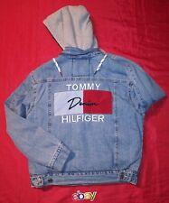 Tommy Hilfiger Denim Jean Sherpa Jacket Hoodie Big Flag...