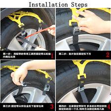 Car Vehicle Off-Road SUV Snow Tire Wheel Chain Anti-skid Belt Universal Easy