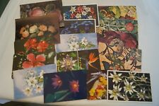 Floral Themed - Various - Vintage - Collectable - Postcards x 16.