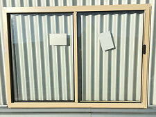 860h x 1210w BRAND NEW Aluminum Sliding window Stone Beige Clear Float