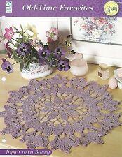 Triple Crown Beauty Doily Crochet Pattern - Old-Time Favorites HOWB Series