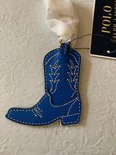 polo ralph lauren Key Chain American West Leather Cobalt Blue