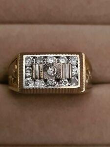 Ring, Herrenring 7,5 gr. Gelb-weiß Gold 585. 14K