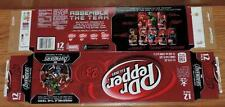 2012 DR PEPPER LE MARVEL AVENGERS MOVIE SERIES EMPTY 12-PACK CAN CARTON/CASE