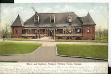 store and canteen.national military home,kansas postcard,undivided back 1907
