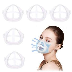5 PCS Silicone 3D Masks Holder Shields Inserted Into Bracket Reusable,Washable