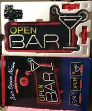 NEW Martini Glass Bar Open Neon Light Sign Beer Bar Pub Club Store Display