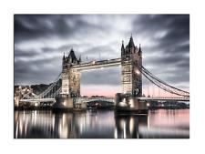 Wandbild London Tower Bridge Bild Glasbild Leinwandbild schwarz 0.4x100x70 cm