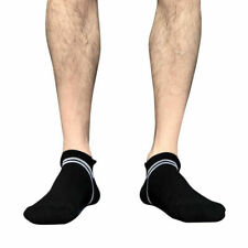 Mens Low Cut Ankle Breathable Cotton Cushion Athletic Running Socks