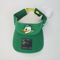 Nike Oregon Ducks Washed Green Denim NCAA College Football Sun Visor Hat Golf