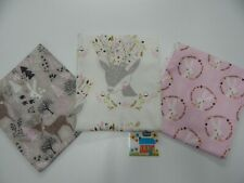 Burp Cloths Woodland Queen 3 Pack Toweling Backed GREAT GIFT IDEA!!
