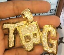 925 Sterling Silver HipHop Customize TBG Letter Pendant