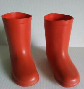 """Vintage 1977 Paddington Bear Red 5"""" Tall Boots by Eden Toys"""