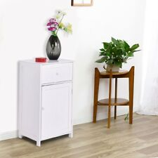 White Storage Cabinet Cupboard Office Bedroom Bathroom Organizer End Table Τowel