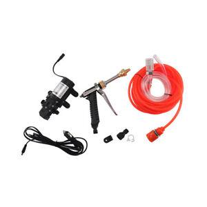 Portable High Pressure Washer Power Pump Self-priming Car Wash Kit 12V Electric