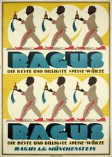 Ragus, Germany, Vintage Grocery and Confectionery Poster