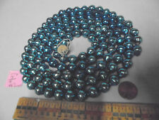 "Christmas Garland Mercury Blue 66"" Long 7/16"" Beads 3518 Vintage"