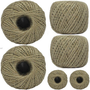 Pack of 6 - 100m Household Home Office Ball Of Brown String Twine Rope