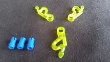 LEGO NINJAGO SPINNER WEAPON - LIME/GREEN SPINNER BLADES (X3) WITH ATTACHMENT PIN