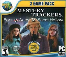 Mystery Trackers Four Aces & Silent Hollow PC Games Window 10 8 7 Vista Computer