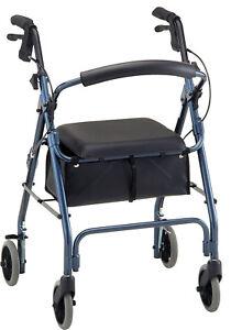 Nova GetGO Classic Foldable Rolling Mobility Walker Rollator - 7 COLOR CHOICE