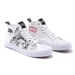 Akedo x Street Fighter White Adult Signature High Top Size 9 NEW IN BOX Sold Out