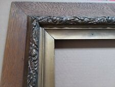 Beautiful Large Antique Oak Wood Picture Frame 35x31 overall - 23x19 inside