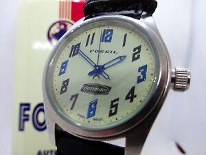 FOSSIL DE-1512 . Modern Vintage Wristwatch . Armbanduhr . Timeless Style . Retro