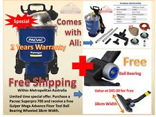 Pacvac Superpro 700 Vacuum Cleaner Backpack 2 Cloth bag 5 Paper Gulper Mega Tool