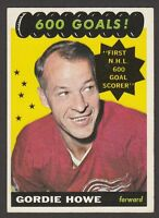 1965-66  TOPPS # 122  GORDIE HOWE  600 GOALS!  SP  EX+   INV A2141