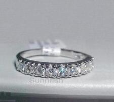 925 STERLING SILVER 3mm round HALF ETERNITY RING SIZE 6