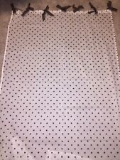 Set/2 Pottery Barn Teen Dottie Sheer Drapes Curtains Panels 44x84 BROWN
