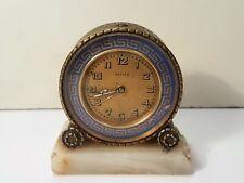 """Zenith Switzerland - Pendulette """" Rondor """" horloge Réveil Mécanique Art Déco"""