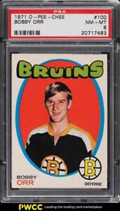 1971 O-Pee-Chee Hockey Bobby Orr #100 PSA 8 NM-MT