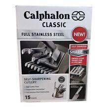 Calphalon Classic SharpIn Self-Sharpening Stainless Steel Knife Block Set