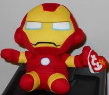 "Ty Beanie Baby - IRON MAN (Marvel) 6"" - MINT with MINT TAGS Stuffed Animal Toy"