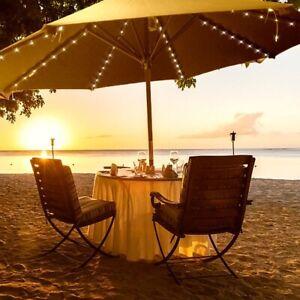 Outdoor Garden Umbrella 104 LED Light Patio Sun Shade Beach Decoration
