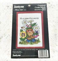 Janlynn - 14 Count Cross Stitch Kit - BEAUTIFUL WORLD - From 1987 - Suzy's Zoo
